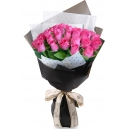 buy 24 pink rose bouquet to philippines