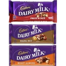 Send Cadbury Assorted 3 Bars 65g each to Philippines