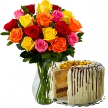 send roses vase with mango cake to philippines