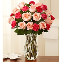 Pink Roses & Mini Carnations Delivery To Philippines
