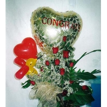 Balloons w/ roses Send To manila Philippines