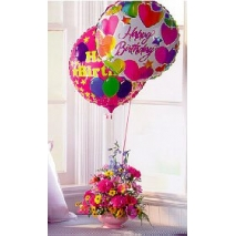 balloons w/ assorted daisies Send To manila