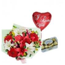 Lily,Ferrero Box & Love U Balloon To Philippines