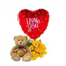 Roses,Love U Balloon & Teddy Bear To Philippines