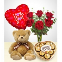 Roses Bouquet, Balloon , Teddy Bear To Philippines