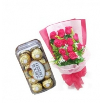 Roses & Chocolate Box Delivery To Philippines