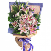12pcs pink lilies Delivery To Philippines