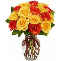 Yellow & Orange Rose Bouquet Send To Philippines