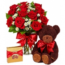 One Dozen Red Roses Bundle Send To Philippines