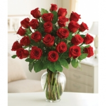24 Premium Long Stem Red Roses Send To Philippines