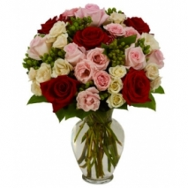 mix roses in vase send to philippines