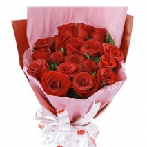 18 red roses bouquet online to philippines