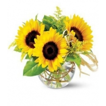 3pcs. Sunflowers Bouquet Delivery To Philippines