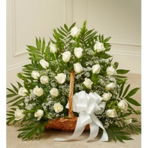 White Roses Basket Delivery To Philippines