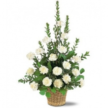 White Simplicity Basket Delivery To Philippines