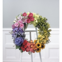 Color Block Standing Wreath Send To Philippines