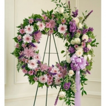 Luxurious Purple Wreath Send To Philippines