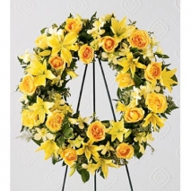 Yellow Radiance Wreath Send To Philippines