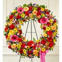 Beautiful Blooms Wreath Send To Philippines