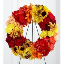 Blazing Blooms Wreath Send To Philippines