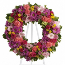 Bright Summery Wreath Send To Philippines