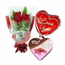 Roses,chocolate box and colorful balloon philippines