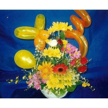 daisies & roses w/ Balloons Send To manila