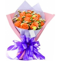 orange roses bouquet send to philippines