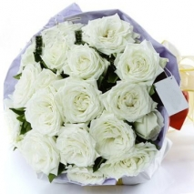 white roses bouquet send to philippines
