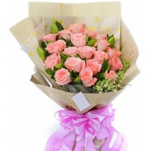 pink roses bouquet send to philippines