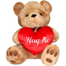 Brownie Bear w/ Hug Me Heart Send To Philippines