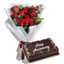 Send Anniversary Flower and Cake To Philippines