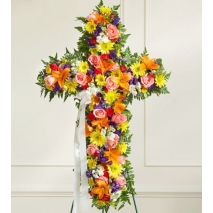 Send Sympathy Cross Spray to Philippines