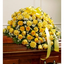 Send Casket Spray Yellow Roses to Philippines