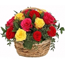 12 mix roses in basket philippines