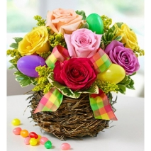 mix roses with easter egg