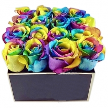 send 16 pcs rainbow roses in bouquet to philippines