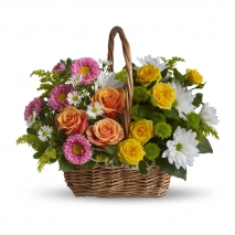 mix roses basket to philippines