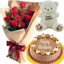 send bear cake flower to philippines