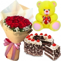 buy cake bear and roses bouquet philippines