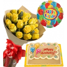 send roses bouquet mocha cake with balloon philippines