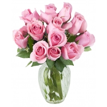 send 12 pink roses vase in philippines