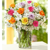 Assorted Rose and Peruvian Lily Bouquet Delivery To Philippines