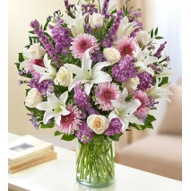 Lavender and White Flowers Delivery To Philippines