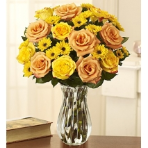 Orange & Yellow Roses with Poms Delivery To Philippines