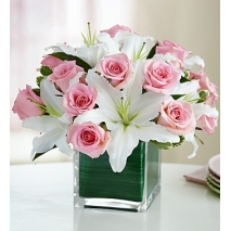 Pink Rose & Lily Cube Delivery To Philippines