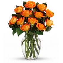 12 Orange Roses Send To Philippines
