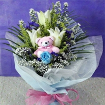 Casa Blanca w/ Pink Mini Bear Delivery To Philippines