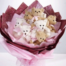 Mini Bear Bouquet Delivery To Philippines