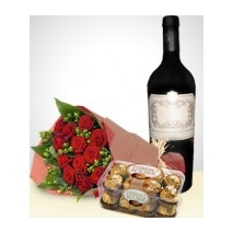 Red Roses, Ferrero Box & Grape Juice Delivery To Philippines